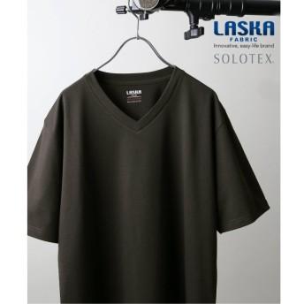 【ジャーナルスタンダード/JOURNAL STANDARD】 【LASKA】× 【SOLOTEX】 PLATE VネックTシャツ