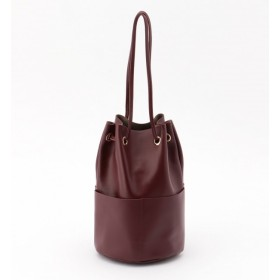 【ティアラ/TIARA】 レザー巾着型バッグ