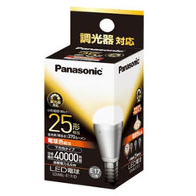 パナソニック LED電球 小形電球形 370lm(電球色相当)【調光器対応】 Panasonic EVERLEDS(エバーレッズ) LDA6L-E17/D 【返品種別A】