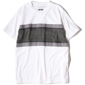 [シップスジェットブルー] Tシャツ 半袖 パッチワーク ボーダー メンズ 122110302 ホワイト XS