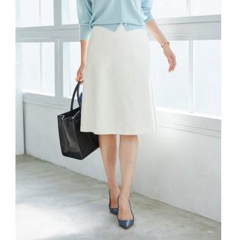 【ロペ マドモアゼル/ROPE madmoiselle】 【SS/S/Lサイズあり】【セットアップ対応】スラブツイードトラペーズスカート