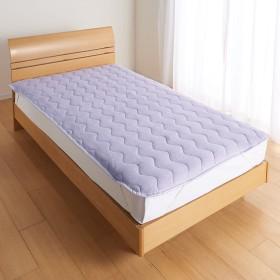 身体に巻き付けて眠りたいひんやりさらり感 接触冷感のびのびパイルケットシリーズ 敷きパッド 684486