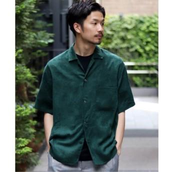 【エディフィス/EDIFICE】 フェイクスウェードオープンカラー ショートスリーブ シャツ