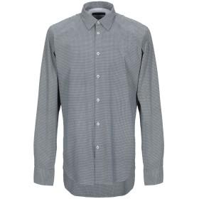 《セール開催中》MANUEL RITZ メンズ シャツ ダークブルー 39 コットン 97% / ポリウレタン 3%