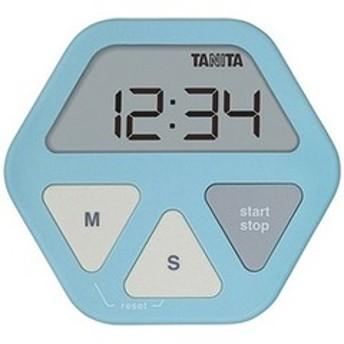 タニタ デジタルタイマー 「ガラスにつくタイマー」 TD-410-BL ブルー