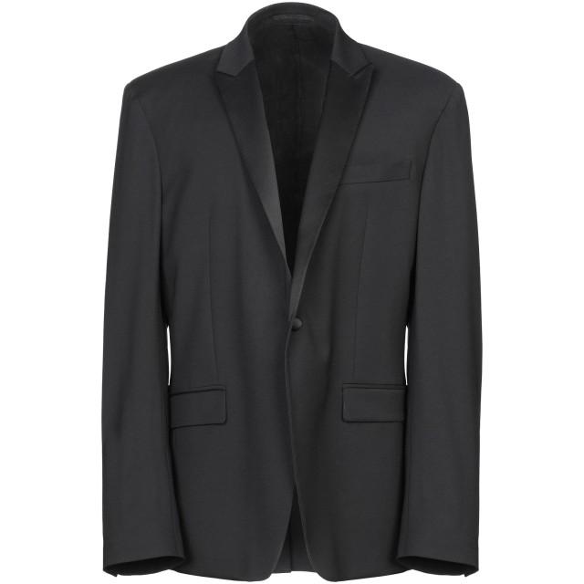《期間限定セール開催中!》VERSACE COLLECTION メンズ テーラードジャケット ブラック 46 レーヨン 80% / ウール 18% / ポリウレタン 2%