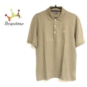 ラコステ Lacoste 半袖ポロシャツ サイズ5 XL メンズ ベージュ  値下げ 20190928