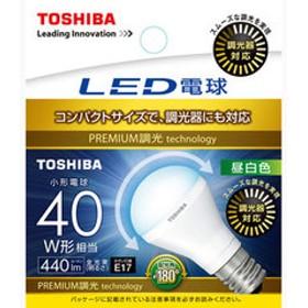 東芝 LED電球 小形電球形 440lm(昼白色相当) TOSHIBA 広配光タイプ LDA5N-G-E17/S/D40W 【返品種別A】