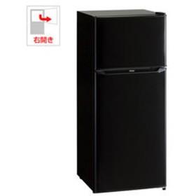 【設置無料 Aエリア】ハイアール 130L 2ドア冷蔵庫(直冷式)ブラック【右開き】 Haier JR-N130A-K 【返品種別A】