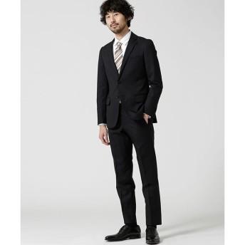 【ナノ・ユニバース/nano・universe】 【WEB限定】スーツ+ヘリンボーン+スリム+ブラック