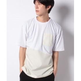 【49%OFF】 ジョルダーノ [GIORDANO]裾ドローコード付ナイロン切り替えTシャツ メンズ ホワイト M 【GIORDANO】 【セール開催中】