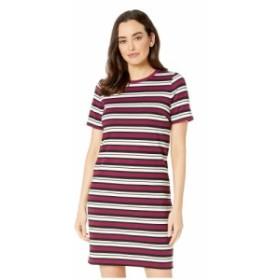 マイケル コース MICHAEL Michael Kors レディース ワンピース ワンピース・ドレス Uneven Stripe T-Shirt Dress Bone/Garnet