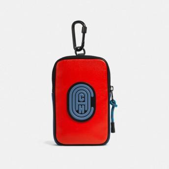 COACH コーチ ハイブリッド ポーチ 10 カラーブロック ウィズ コーチ パッチ バッグ