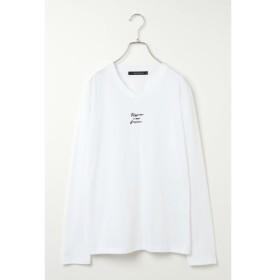 【ヴァンスシェアスタイル/VENCE share style】 フロント刺繍ロンT