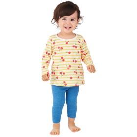 パジャマ [ベビー]パジャマ 背中ガーゼ仕様 CoCupa!! 長袖 イエロー インナー・パジャマ ベビー(70~95cm) パジャマ・ルームウェア(女児) (19)