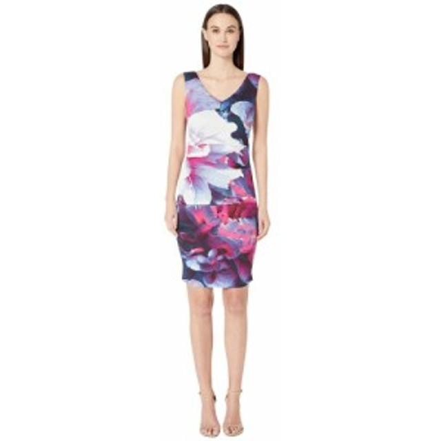 ニコルミラー Nicole Miller レディース ワンピース ワンピース・ドレス Giant Garden Lauren V-Neck Dress Blue Multi