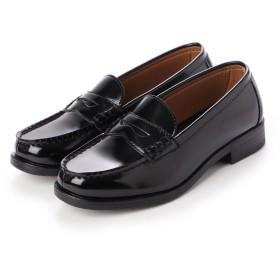 ジオアンドジア GIO & GIA レディース 学生靴 スクール ローファ 軽量 通勤 通学 撥水加工 軽量 防滑 防臭 衝撃緩衝性 履き心地 (ブラック)