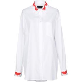 《期間限定セール開催中!》SIMONE ROCHA レディース シャツ ホワイト 6 100% コットン