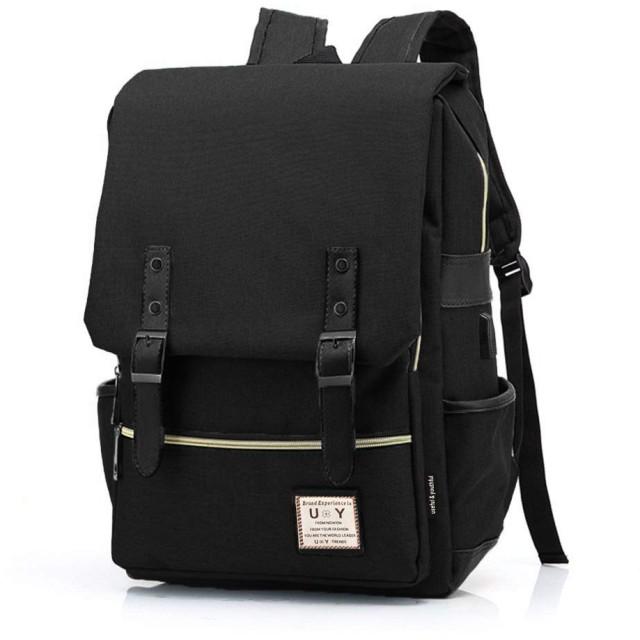 [ユーワイバッグ] リュック メンズ USB充電ポート 付き A4 バックパック uybag06 (01.ブラック)