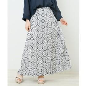 【レイカズン/RAY CASSIN】 総柄プリーツスカート