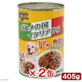 くいしんぼ 缶 角切りチキン・ビーフ&野菜 11歳以上用 405g 2缶入り 関東当日便