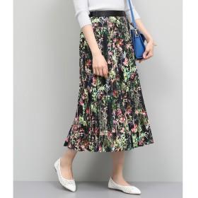 【ロペ マドモアゼル/ROPE madmoiselle】 フラワープリントプリーツスカート