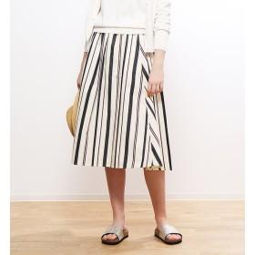 【コレックス/collex】 ストライプギンガムギャザースカート