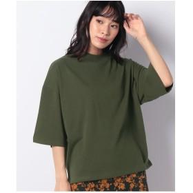WEGO WEGO/USAコットンワイドハイネックTシャツ(グリーン)【返品不可商品】
