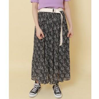 【レイカズン/RAY CASSIN】 花柄楊柳プリーツスカート