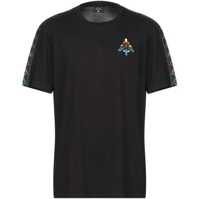 《セール開催中》MARCELO BURLON x KAPPA メンズ T シャツ ブラック XXS コットン 100%