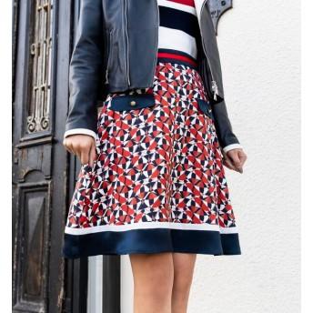 【ラブレス/LOVELESS】 【LOVELESS】WOMEN ジオメトリックフレアスカート