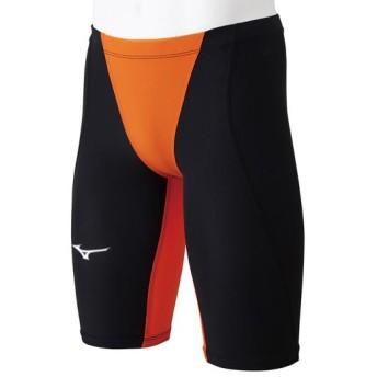 MIZUNO SHOP [ミズノ公式オンラインショップ] 競泳用MX・SONIC02 ハーフスパッツ[ジュニア] 54 ブラック×オレンジ N2MB8411
