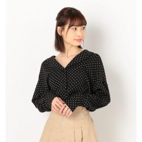 【アルシーヴ/archives】 ドットオープンカラーシャツ