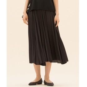 S size ONWARD(小さいサイズ) / エスサイズオンワード 【中村アンさん着用】サテンプリーツ スカート(検索番号D24)