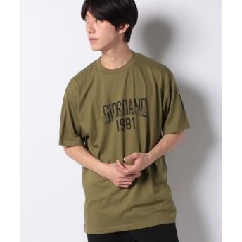 【49%OFF】 ジョルダーノ [GIORDANO]グラフィックプリントTシャツ (マンハッタン) メンズ オリーブ M 【GIORDANO】 【セール開催中】