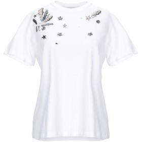 《期間限定 セール開催中》DONDUP レディース T シャツ ホワイト M コットン 94% / ポリウレタン 6%