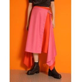 【ジュエティ/jouetie】 バイカラーアシメミディスカート