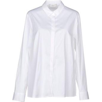 《セール開催中》ACCU by PSR レディース シャツ ホワイト 46 コットン 79% / ナイロン 17% / ポリウレタン 4%