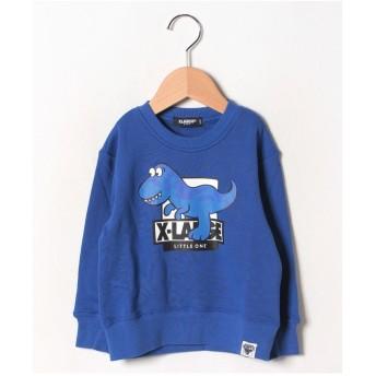 XLARGE KIDS 恐竜モチーフ長袖トレーナー(ロイヤルブルー)【返品不可商品】