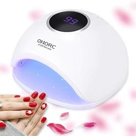 OMorc UVライト 48W UV LED ネイルライト 高速硬化ライト ネイルドライヤー 自動センサー付き 4段階タイマー