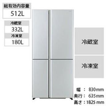 AQUA 4ドア冷蔵庫(512L・フレンチドア) AQR-TZ51H(S) サテンシルバー (標準設置無料)