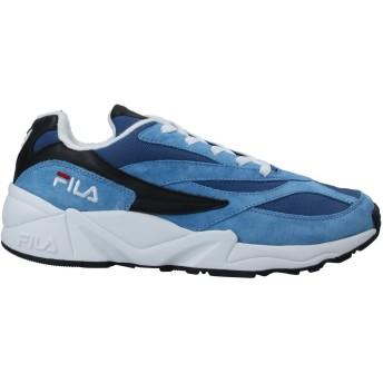 《セール開催中》FILA メンズ スニーカー&テニスシューズ(ローカット) ブルー 41 紡績繊維 / 革