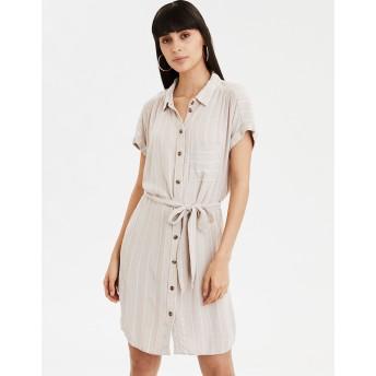 【アメリカンイーグル】AEストライプシャツドレス