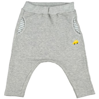 ベビー シンプルフリー パンツ 10分丈 グレー ベビー・キッズウェア ベビー(70~95cm) ボトムス(男児) (201)