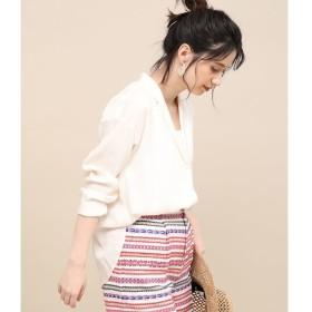 【ロペ マドモアゼル/ROPE madmoiselle】 ソフトブロードオープンカラーシャツ