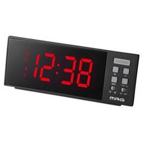 時計 目覚まし時計 ノア精密 目覚まし時計 NOA MAG LED目覚まし時計 レッドチャージ T-738 BK 【返品種別A】