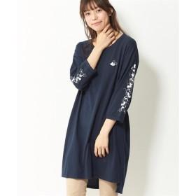 人気のため7分袖になって再登場!ビッグシルエットTシャツ(ディズニー) (大きいサイズレディース)Tシャツ・カットソー