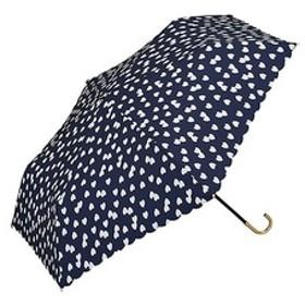w.p.c 折りたたみ傘 フラッフィーハート mini 手開き ネイビー 50cm 963-017 (1本入)