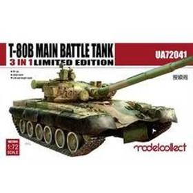 モデルコレクト 1/72 T-80B 主力戦車 (3 in 1 限定版)【MODUA72041】 プラモデル ビーバー MODUA72041 T-80B シュリョクセンシャ 【返品種別B】
