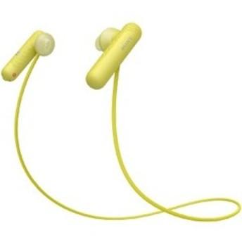 ソニー SONY ブルートゥースイヤホン インナーイヤー型 WI-SP500 YQ イエロー [防滴 /Bluetooth]